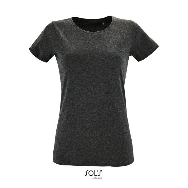Camiseta Regent Fit Women Mujer Sols - Antracita Mezcla