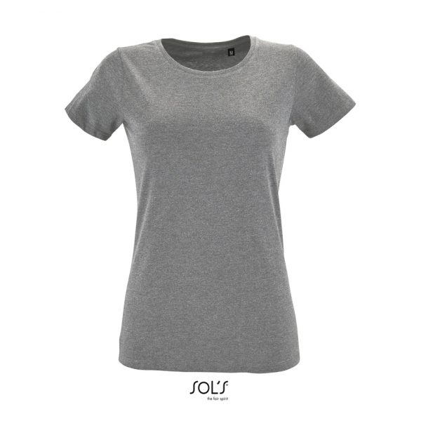 Camiseta Regent Fit Women Mujer Sols - Gris Mezcla