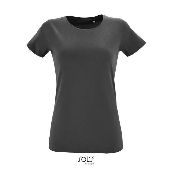 Camiseta Regent Fit Women Mujer Sols - Gris Oscuro