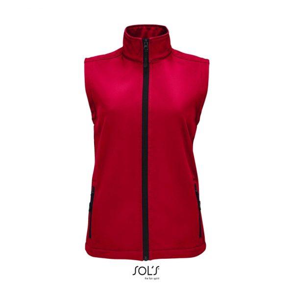 Softshell Race Bw Women Mujer Sols - Rojo Chili