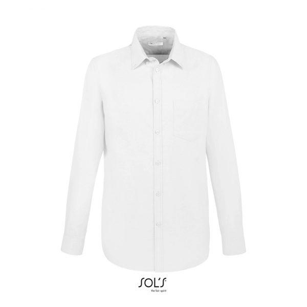 Camisa Manga Larga Boston Fit Hombre Sols - Blanco