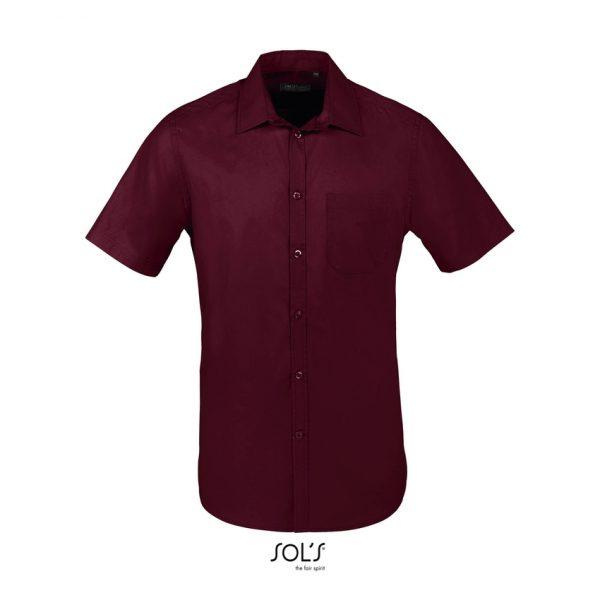 Camisa Bristol Fit Hombre Sols - Burdeos Medio