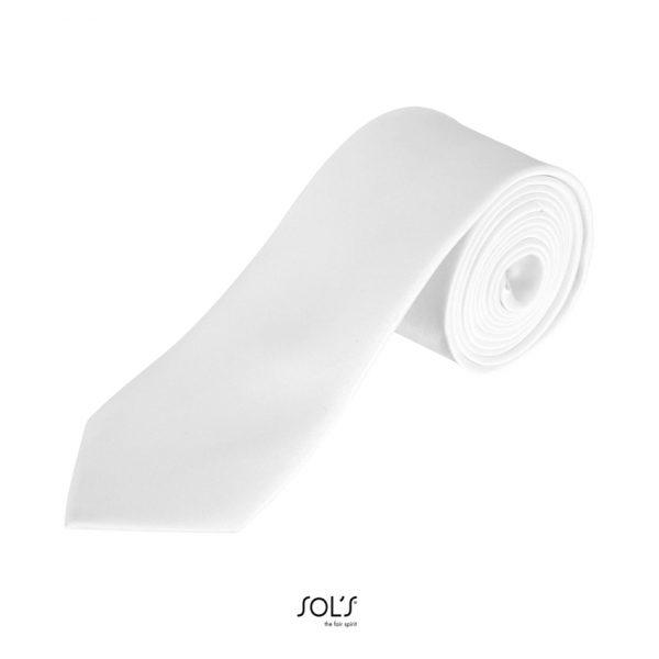 Corbata Garner Unisex Sols - Blanco