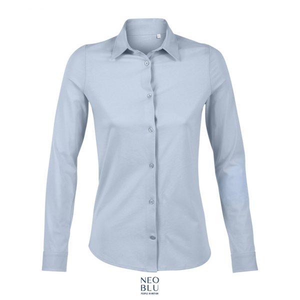 Camisa Neoblu Balthazar Women Mujer Sols - Azul Claro