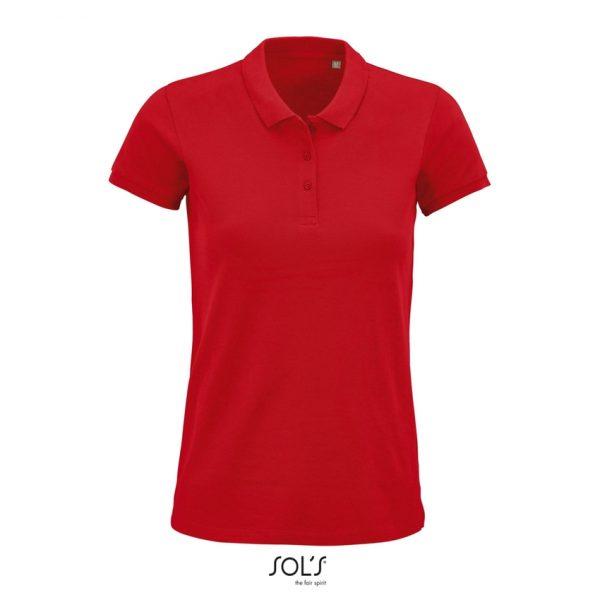 Polo Planet Women Mujer Sols - Rojo