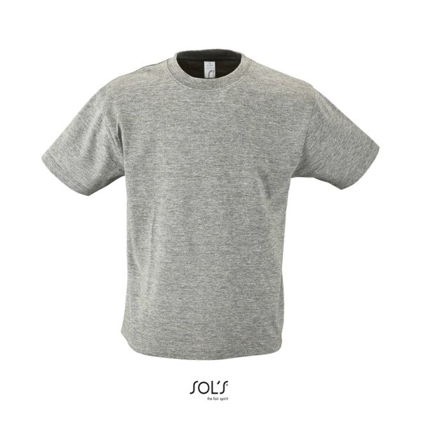 Camiseta Regent Kids Niño Sols - Gris Mezcla