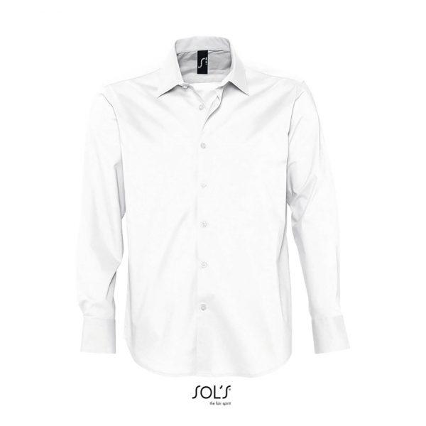 Camisa Manga Larga Brighton Hombre Sols - Blanco
