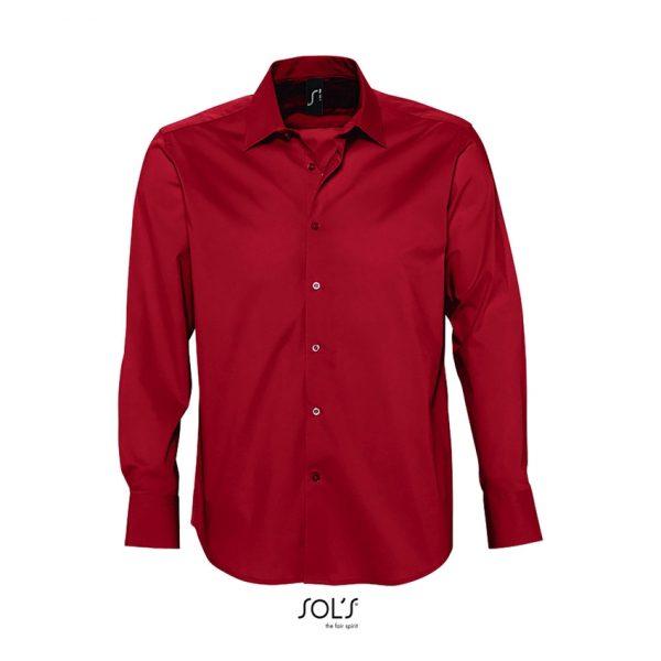 Camisa Manga Larga Brighton Hombre Sols - Rojo Cardinal