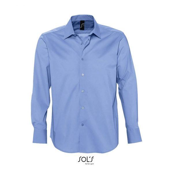 Camisa Manga Larga Brighton Hombre Sols - Cielo Claro
