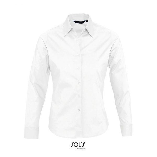 Camisa Manga Larga Eden Mujer Sols - Blanco