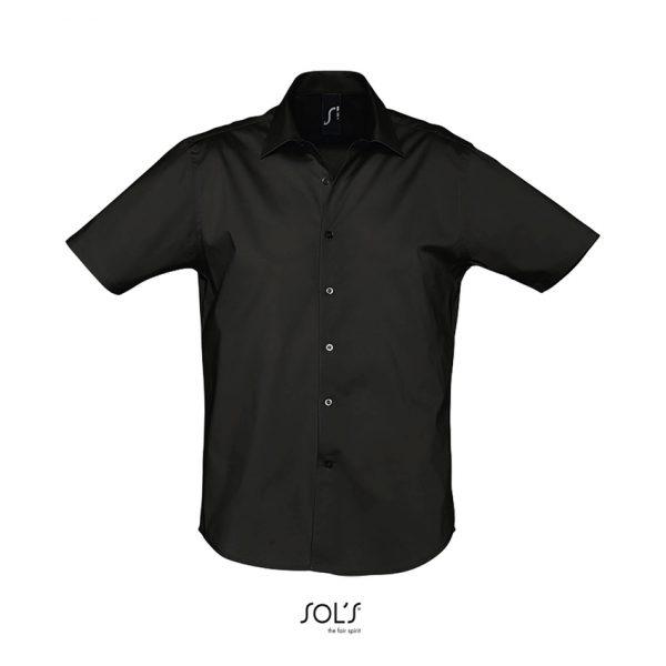 Camisa Broadway Hombre Sols - Negro