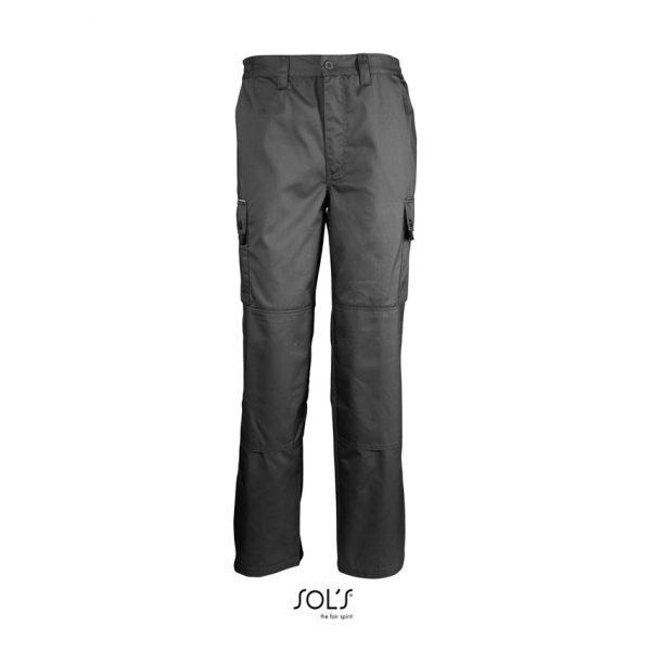 Pantalón De Trabajo Active Pro Hombre Sols - Gris Oscuro