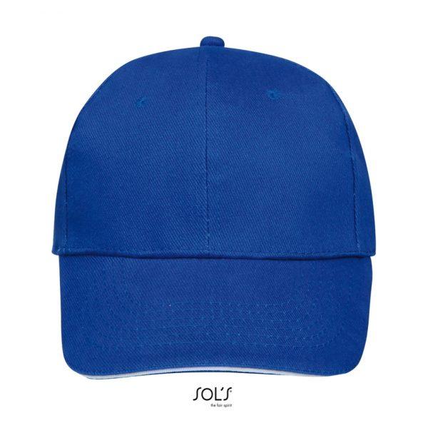Gorra Buffalo Unisex Sols - Azul Royal / Blanco