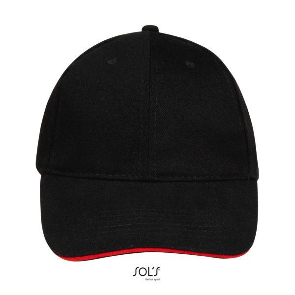 Gorra Buffalo Unisex Sols - Negro / Rojo