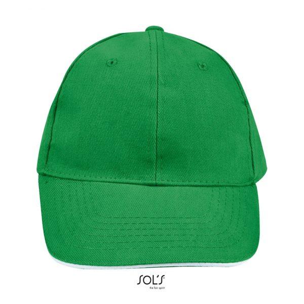 Gorra Buffalo Unisex Sols - Verde Pradera / Blanco