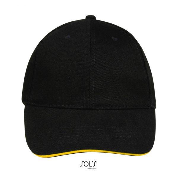 Gorra Buffalo Unisex Sols - Negro / Amarillo