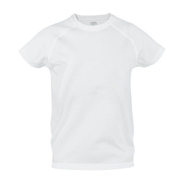 Camiseta Niño Tecnic Plus Makito - Blanco