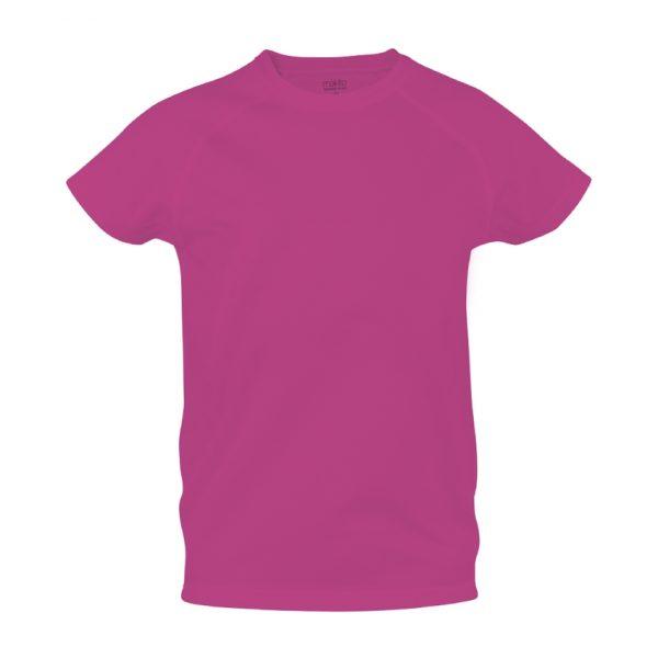 Camiseta Niño Tecnic Plus Makito - Fucsia